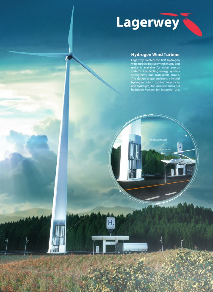 Lagerwey with hydrogen wind turbine at Hannover Messe | Lagerwey